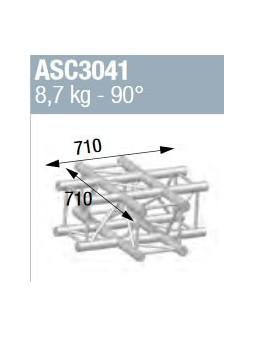 ASD - ANGLE ALU 290 CARRE 4 DEPARTS 90° A PLAT - ASC3041