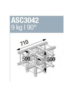ASD - ANGLE ALU 290 CARRE 4 DEPARTS 90° PIED - ASC3042