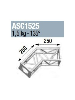ASD - ANGLE 2D 135° SECTION 150 ALU CARRE - ASC1525