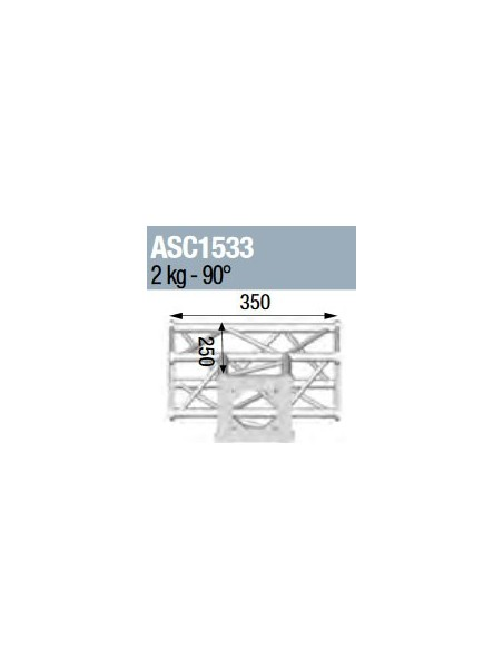 ASD - ANGLE 3D 90° SECTION 150 CARRE ALU - ASC1533