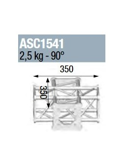 ASD - ANGLE 4D 90° SECTION 150 CARRE ALU - ASC1541
