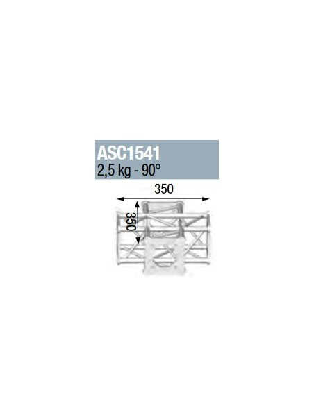 ASD - ANGLE 4D 90° SECTION 150 CARRE ALU - ASC1541