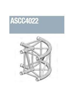 ASD - Angle alu 390 carrée 2 départs 90° arrondi extérieur - ASCC4022
