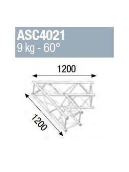 ASD - ANGLE ALU 390 CARREE 2 DEPARTS 60° - ASZ4021