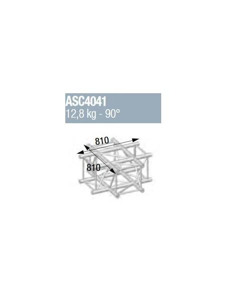 ASD - ANGLE ALU 390 CARREE 4 DEPARTS A PLAT 90° - ASZ4041