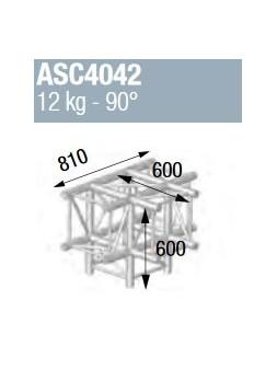 ASD - ANGLE ALU 390 CARREE 4 DEPARTS PIED 90° - ASZ4042
