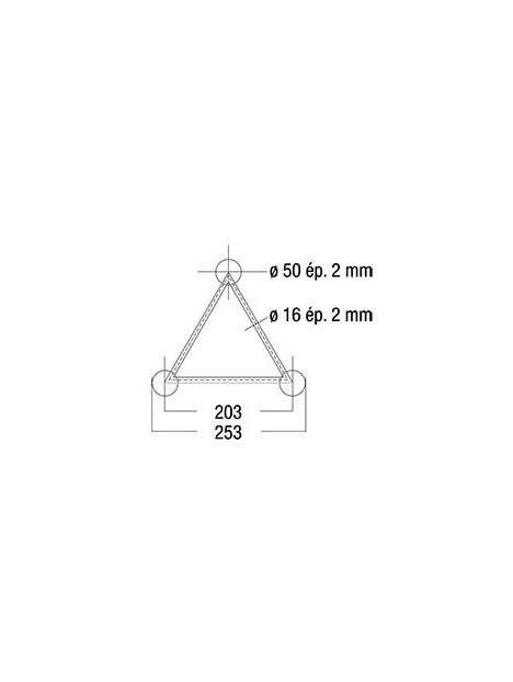 ASD - STRUCTURE ALU  250 TRIANGULAIRE DE OM29  - SD25029