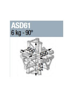 ASD - ANGLE ALU TRIANGULAIRE 250 6 DEPARTS - ASD61