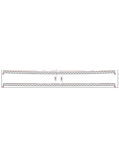 ASD - Structure rectangulaire 540x290 mm lg de 0m50 - SR503050