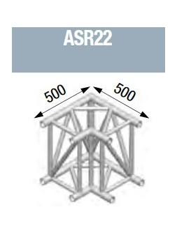 ASD - Angle 2 départs 90° lg de 0m50x0m50 - ASR22