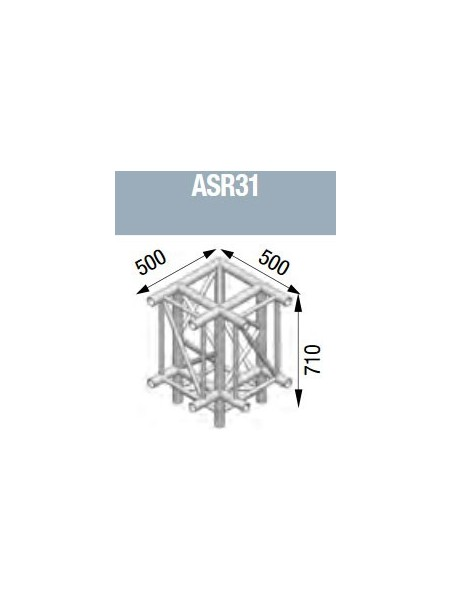 ASD - Angle 3 départs pied 90° lg de 0m50x0m50x0m71 - ASR31