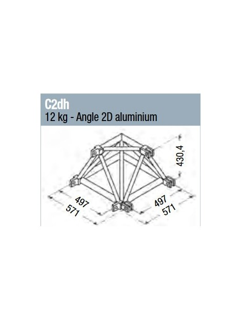 ASD - Angle 2D structure alu 500 triangulaire - C2DH