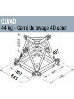 ASD - Carré de levage 4D acier structure alu 500 triangulaire - CLV4D