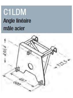 ASD - Angle linéaire mâle acier ST 500 - C1LDM