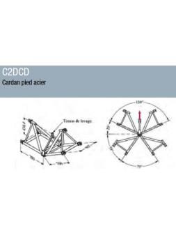 ASD - Cardan pied acier ST 500 - C2DCD