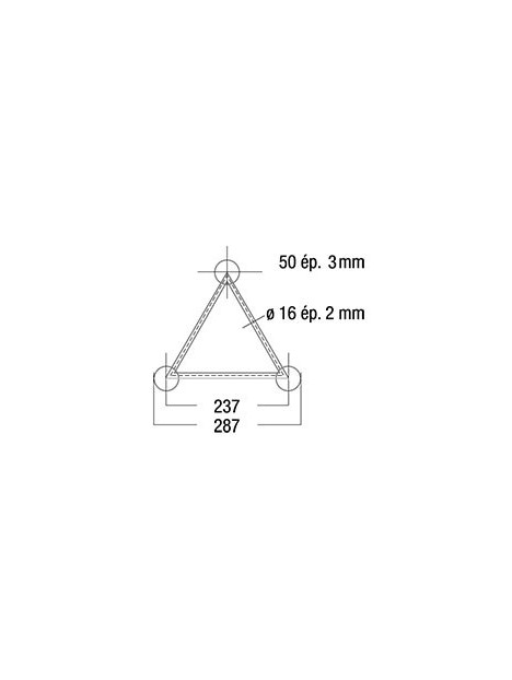 ASD - CERCLE DE 12M00 EXT STRUCTURE 290 FC ALU COMPLET - SXC291200FC