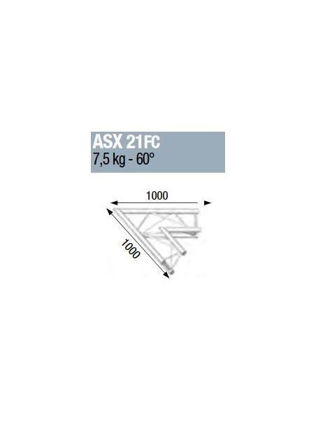 ASD - ANGLE ALU 290 2 DEPARTS 60° FORTE CHARGE - ASX21FC