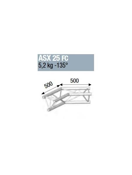 ASD - ANGLE ALU 290 2 DEPARTS 135° FORTE CHARGE - ASX25FC