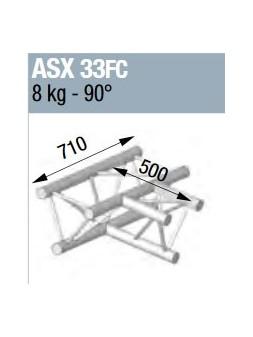 ASD - ANGLE ALU 290 3 DEPARTS 90° HORIZONTAL FORTE CHARGE - ASX33FC