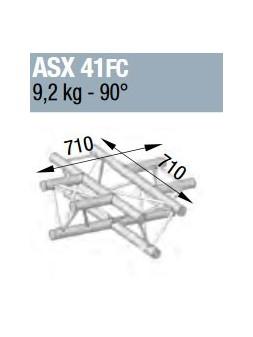 ASD - ANGLE ALU 290 4 DEPARTS 90° HORIZONTAL FORTE CHARGE - ASX41FC