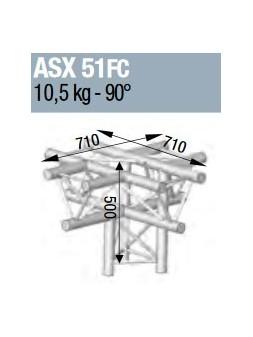 ASD - ANGLE ALU 290 5 DEPARTS HORIZONTAL/PIED FORTE CHARGE - ASX51FC