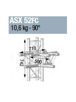 ASD - ANGLE ALU 290 5 DEPARTS HORIZONTAL/PIED/VERTICAL FORTE CHARGE - ASX52FC
