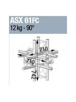 ASD - ANGLE ALU 290 6 DEPARTS FORTE CHARGE - ASX61FC