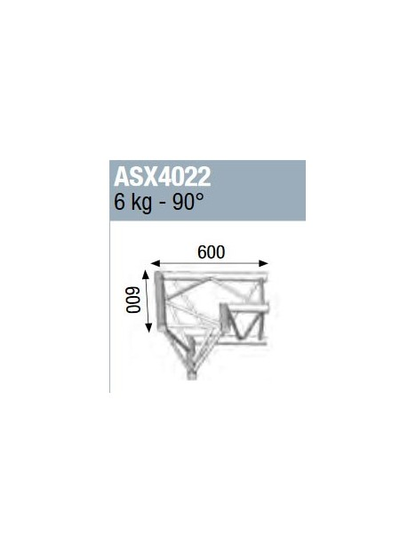 ASD - ANGLE ALU 390 2 DEPARTS HORIZONTAL 90° - ASX4022