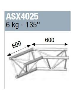 ASD - ANGLE ALU 390 2 DEPARTS 135° - ASX4025