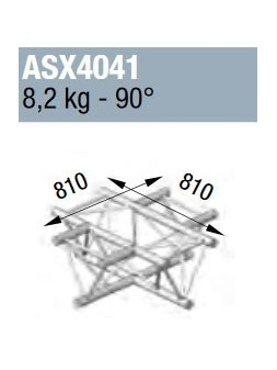 ASD - ANGLE ALU 390 4 DEPARTS A PLAT 90° - ASX4041