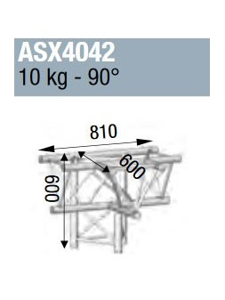 ASD - ANGLE ALU 390 4 DEPARTS PIED 90° - ASX4042