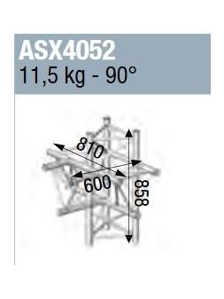 ASD - ANGLE ALU 390 5 DEPARTS PIED 90° - ASX4052