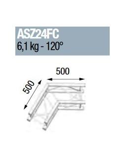 ASD - ANGLE ALU 290 CARREE 2 DEPARTS 120° FORTE CHARGE - ASZ24FC