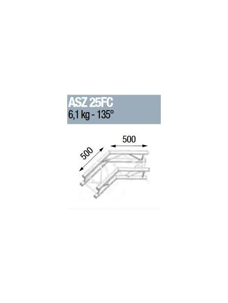 ASD - ANGLE ALU 290 CARREE 2 DEPARTS 135° FORTE CHARGE - ASZ25FC