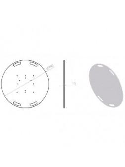 ASD - EMBASE ACIER NOIRE pour SX390, SC 390, Ø 1000 mm. - EML359N