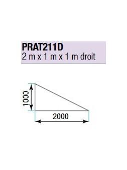 ASD - PRATICABLE TRIANGULAIRE 750 kg / m² de 2m x 1m x 1m. DROIT plancher extérieur - PRA-T211D