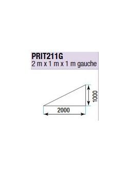 ASD - PRATICABLE TRIANG. INDOOR 500 kg / m² de 2m x 1m x 1m. GAUCHE - PRI-T211G