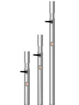 ASD - PIED TELESCOPIQUE avec embout PVC noir ht plancher de 0,60 à 1 m. - PT60100