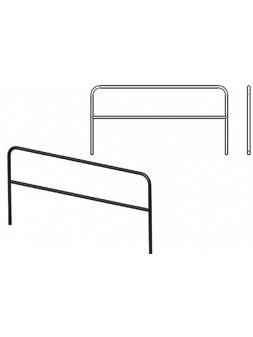 ASD - GARDE CORPS 2 x 1 M. ACIER finition EPOXY NOIR - GARD2