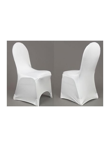 Housse De Chaise Lycra Blancs 4 90 Houssech