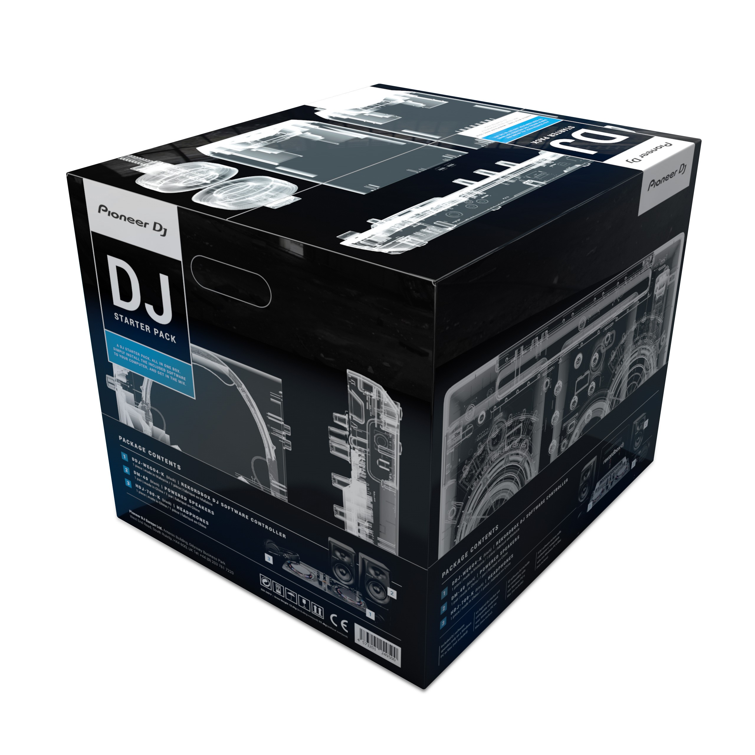 pioneer dj starter pack pack contr leur ddj wego4 k rekordbox d. Black Bedroom Furniture Sets. Home Design Ideas