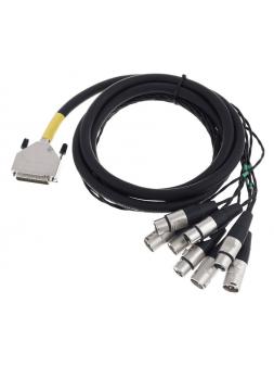 Cordial - Câble int. num D-Sub/4 XLR m.+4 XLR f. Yamaha 3m - ECL CFD3DFMY