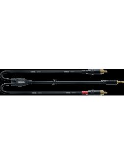 Cordial - Câble bretelle REAN 3,5mm stéréo/2x RCA 1,5 m - ECL CFY1.5WCC