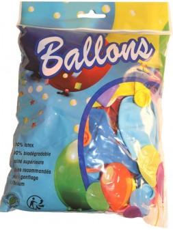 "Ballons de baudruche Multicolores 12"" set de 50"