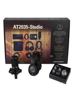 Audio-Technica - AT2035-Studio : Pack AT2035 + ATH-M40X + Audient iD4 + logiciel Audient ARC