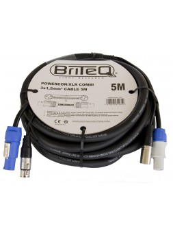BRITEQ - POWERCON/XLR COMBI 3x1,5mm² CABLE 5M - 01265