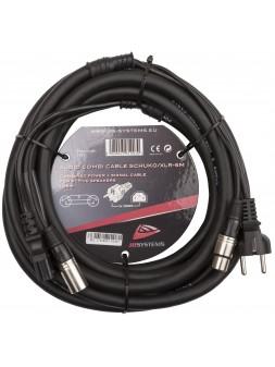 JB SYSTEMS - AUDIO COMBI CABLE SCHUKO/XLR-5M - 01403